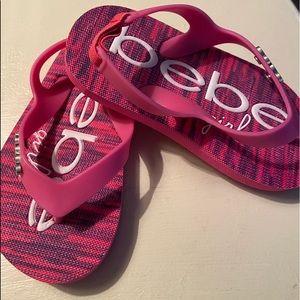Bebe girls pink flip flop